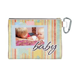 Baby By Baby   Canvas Cosmetic Bag (large)   Oeo19d5ngrz0   Www Artscow Com Back