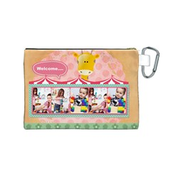 Kids By Kids   Canvas Cosmetic Bag (medium)   4qjw3ulkktvm   Www Artscow Com Back