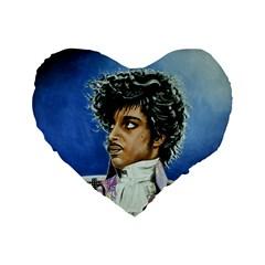 His Royal Purpleness 16  Premium Heart Shape Cushion  by retz