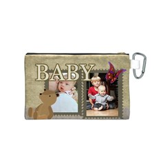 Baby By Baby   Canvas Cosmetic Bag (small)   Ifz5kn1tmr45   Www Artscow Com Back