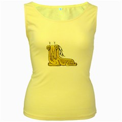 Fantasy Cute Monster Character 2 Women s Tank Top (yellow) by dflcprints