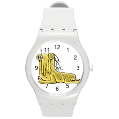 Fantasy Cute Monster Character 2 Plastic Sport Watch (medium) by dflcprints