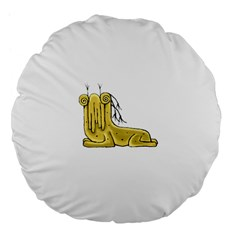 Fantasy Cute Monster Character 2 18  Premium Flano Round Cushion  by dflcprints