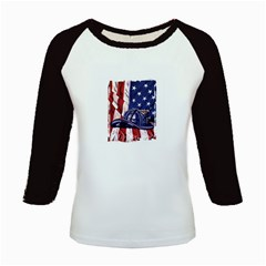 Flag Kids Baseball Jersey by jewelhouserock