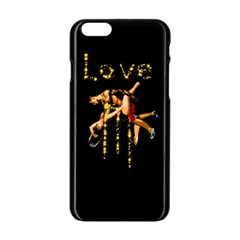 Love Sparkles Intimacy Lust Valentines Day Apple Iphone 6 Black Enamel Case by AllysDesigns