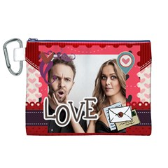 Love By Love   Canvas Cosmetic Bag (xl)   Diviy1y12xir   Www Artscow Com Front