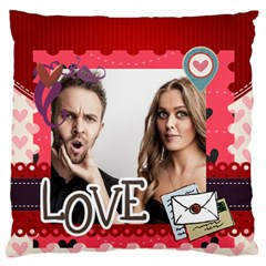 Love By Love   Large Flano Cushion Case (two Sides)   S0m0e7tkeus2   Www Artscow Com Back
