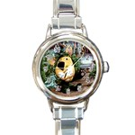 parsley-6 Round Italian Charm Watch