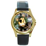 parsley-6 Round Gold Metal Watch