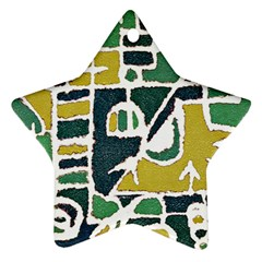Colorful Tribal Abstract Pattern Star Ornament by dflcprints