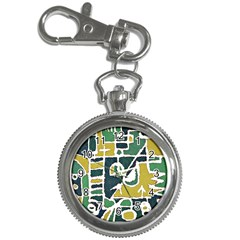 Colorful Tribal Abstract Pattern Key Chain Watch by dflcprints