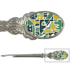 Colorful Tribal Abstract Pattern Letter Opener by dflcprints