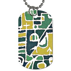 Colorful Tribal Abstract Pattern Dog Tag (two Sided)  by dflcprints
