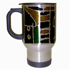 Colorful Tribal Abstract Pattern Travel Mug (silver Gray) by dflcprints
