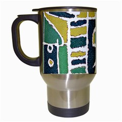 Colorful Tribal Abstract Pattern Travel Mug (white) by dflcprints