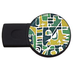 Colorful Tribal Abstract Pattern 4gb Usb Flash Drive (round) by dflcprints