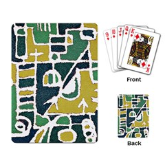 Colorful Tribal Abstract Pattern Playing Cards Single Design by dflcprints