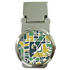 Colorful Tribal Abstract Pattern Money Clip With Watch by dflcprints