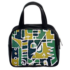 Colorful Tribal Abstract Pattern Classic Handbag (two Sides) by dflcprints