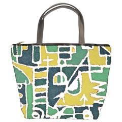 Colorful Tribal Abstract Pattern Bucket Handbag by dflcprints
