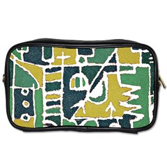 Colorful Tribal Abstract Pattern Travel Toiletry Bag (one Side) by dflcprints