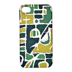 Colorful Tribal Abstract Pattern Apple Iphone 4/4s Hardshell Case With Stand by dflcprints