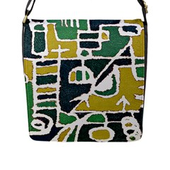Colorful Tribal Abstract Pattern Flap Closure Messenger Bag (large) by dflcprints