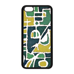 Colorful Tribal Abstract Pattern Apple Iphone 5c Seamless Case (black) by dflcprints