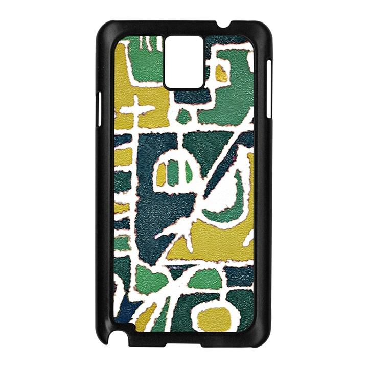 Colorful Tribal Abstract Pattern Samsung Galaxy Note 3 N9005 Case (Black)