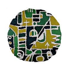 Colorful Tribal Abstract Pattern 15  Premium Flano Round Cushion  by dflcprints