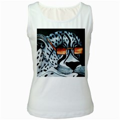 Cool Cat Women s Tank Top (white) by JUNEIPER07