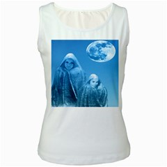 Full Moon Rising Women s Tank Top (white) by icarusismartdesigns