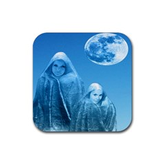 Full Moon Rising Drink Coaster (square) by icarusismartdesigns