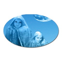 Full Moon Rising Magnet (oval) by icarusismartdesigns