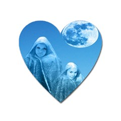 Full Moon Rising Magnet (heart) by icarusismartdesigns