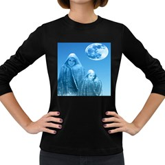Full Moon Rising Women s Long Sleeve T Shirt (dark Colored) by icarusismartdesigns