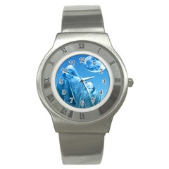 Full Moon Rising Stainless Steel Watch (slim) by icarusismartdesigns