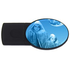 Full Moon Rising 4gb Usb Flash Drive (oval) by icarusismartdesigns