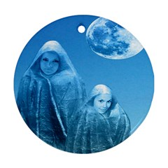 Full Moon Rising Round Ornament (two Sides) by icarusismartdesigns