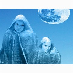 Full Moon Rising Canvas 36  X 48  (unframed) by icarusismartdesigns