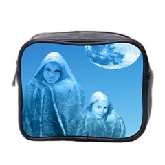 Full Moon Rising Mini Travel Toiletry Bag (two Sides) by icarusismartdesigns