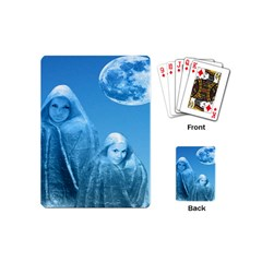 Full Moon Rising Playing Cards (mini) by icarusismartdesigns