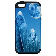 Full Moon Rising Apple Iphone 5 Hardshell Case (pc+silicone) by icarusismartdesigns