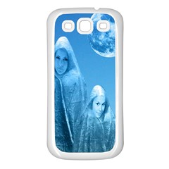 Full Moon Rising Samsung Galaxy S3 Back Case (white) by icarusismartdesigns