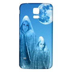 Full Moon Rising Samsung Galaxy S5 Back Case (White) by icarusismartdesigns
