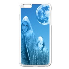 Full Moon Rising Apple Iphone 6 Plus Enamel White Case by icarusismartdesigns