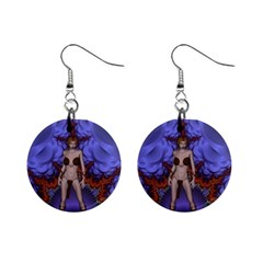 Chaos Mini Button Earrings by icarusismartdesigns