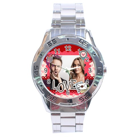 Love By Love   Stainless Steel Analogue Watch   7uq3407vlosi   Www Artscow Com Front