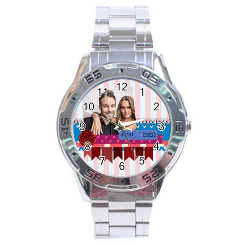 Love By Love   Stainless Steel Analogue Watch   Pptjls2ltz9q   Www Artscow Com Front
