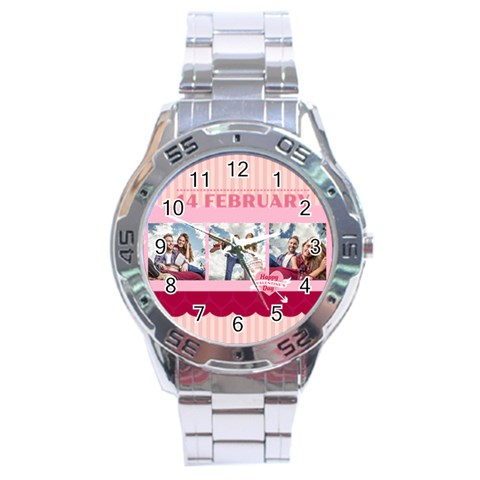 Love By Love   Stainless Steel Analogue Watch   Tauiessmd9av   Www Artscow Com Front